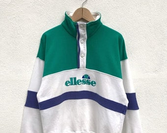 20% OFF Vintage Ellesse Big Logo Sweatshirt / Pullover Sweater / Casual Shirt / Ellesse Sweater / Ellesse Tennis Shirt / Ellesse Sportwear