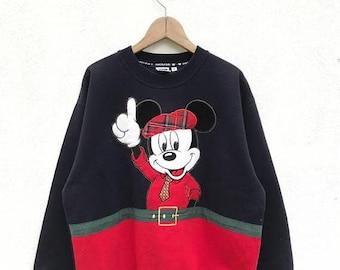 20% OFF Rare Vintage Mickey Mouse Sweatshirt / Mickey Mouse Sweater / Mickey Mouse Disney / Cartoon Shirt / Mickey Mouse Big Print