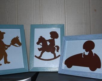 "Frame for ""Children's games"" boy's room scrapbooking"