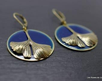 art deco Ginkgo earrings, earrings