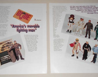 G.I. Joe Doll Magazine Article Pages for Reference 1991