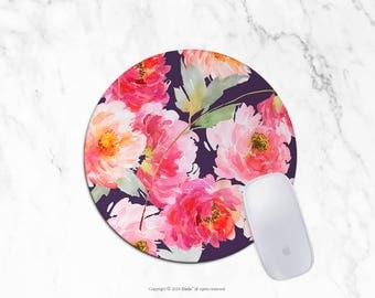 Watercolor Mousepad floral mouse pad Round or Rectangle Mouse pad Beautiful Design Floral Mouse pad Cute gift Mousepad 11