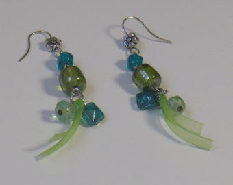 the Green Ribbon earrings