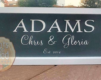 7x15 Custom Family Name Wooden Sign // Personalized Wooden Sign // Wooden Home Decor // Wedding Gift // Housewarming Gift // Wedding Gift