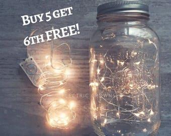 Mason jar light, Country Wedding, Mason Jar Centerpiece, Rustic Wedding Centerpiece, Fireflies, Battery Operated  *Jar not included*