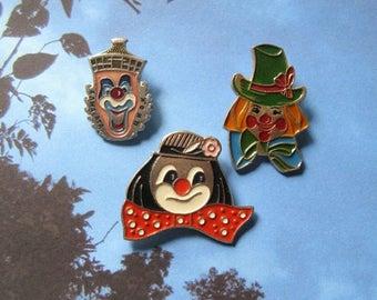 20% Off Sale Vintage Circus Pins, Circus Artists, Funny Pins, Circus Party, Circus Brooches, Clown Pin
