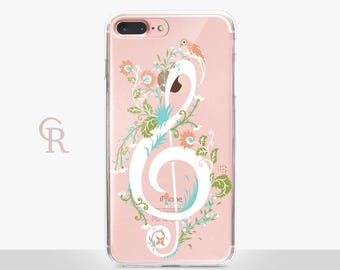 Music Clear Phone Case For iPhone 8 iPhone 8 Plus iPhone X Phone 7 Plus iPhone 6 iPhone 6S  iPhone SE Samsung S8 iPhone 5 Samsung S8 Plus