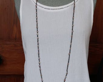 long pearl strand, pearl necklace, freshwater pearl necklace