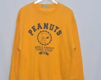 Vintage Snoopy Peanuts Cartoon Sweatshirt Sweater Large Size