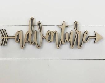 Adventure Wood Arrow Sign, Arrow Wood Sign, Wooden Arrows, Arrow Wall Decor, Wooden Arrow Sign, Decorative Arrow, Rustic Arrow, Tribal Arrow