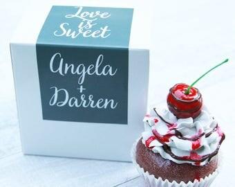 Cupcake Box, Cupcake Label, Cookie Box, Donut Box, Favor Box, Communion Favor, Bridal Shower Favor, Favor Label, Baby Shower Favor, Birthday