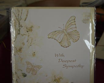 With Deepest Sympathy Card with 2 Butterflies