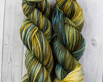 Gemstones Worsted, That 70's Show, Hand dyed yarn