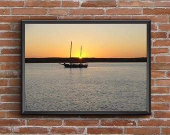FREE Shipping! Sunset on Morro Bay Photo 16 x 20 ~ Morro Bay, CA ~ Original Photo Ready to Ship - Home, Hotel, Restaurant, Office, Mancave
