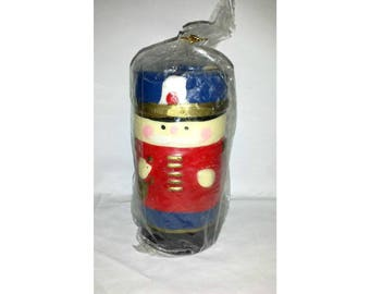 Vintage Christmas Candle,Toy Soldier Candle,Nutcracker Candle,Vintage Christmas, Kitschy, Vintage Candle,Holiday Candle,New Old Stock,1960s