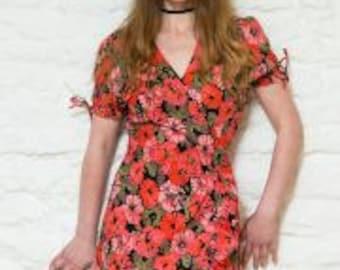 Fair Trade Festival Wrap Dress Size M (10-12)