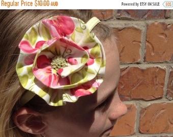EOFY Sale Floral Fabric Flower Elastic Headband