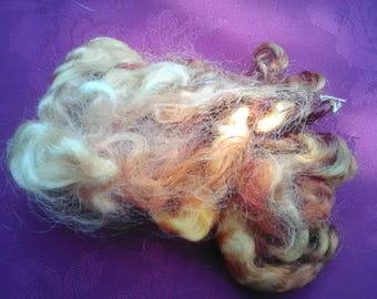 Hand dyed White Faced Dartmoor Curly Locks