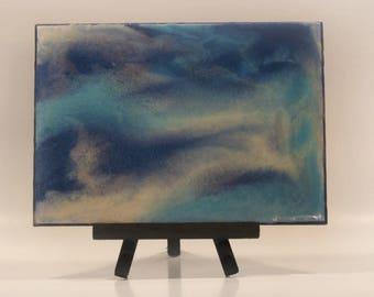 blue abstract art, blue art, blue decor, blue painting, blue and white, blues art, Canadian seller, Canadian art, MAC Paintings, makeup art