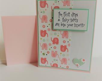 Baby Girl Congrats Card