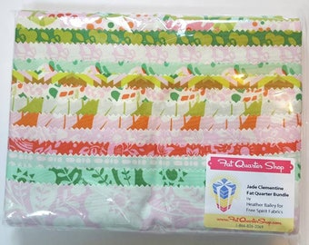 14 Fat Quarter Bundle Clementine by Heather Bailey for Free Spirit, Jade Colorway