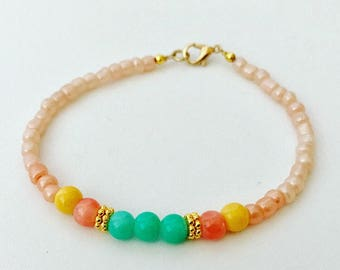 Petite Glass Bead Friendship Bracelet