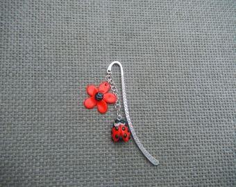 bookmarks Ladybug fimo Flower Spring