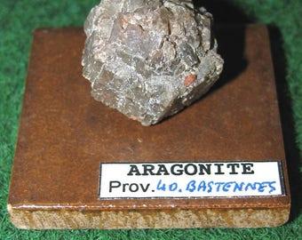 ARAGONITE 329 - 40.BASTENNES - mineral Collection