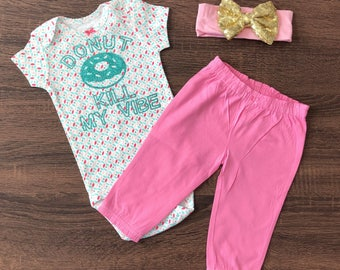Ready to Ship | Funny Baby Outfit | Donut Shirt | Donut Baby Shirt | Donut Bodysuit | Hipster Baby | Trendy Baby | Trendy Kids|Toddler Shirt