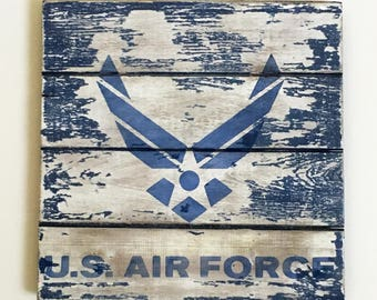 Airforce Gift, USAF Pallet Sign, Military Gift Ideas, Deployment Gift, Air Force Family Home Decor, Air Force Gift, Gift For Him