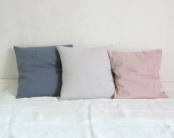 Linen Cushion Cover,3 colors