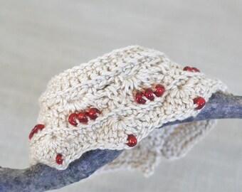 Beaded crochet jewelry, cuff boho bracelet,  beaded crochet cuff, bohemian  jewelry