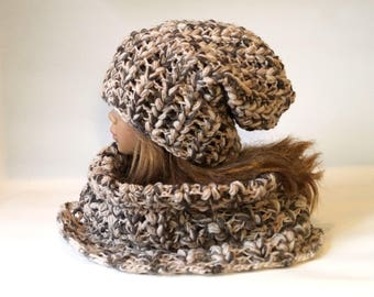 Super Chunky Scarf and Hat Crochet PDF Pattern, Chunky Snood Pattern, Hat Pattern, Crochet Chunky Cowl, Chunky Crochet Pattern DIY