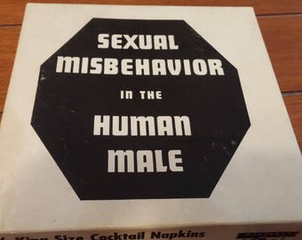 Cocktail Napkins 6x6 Sexual Misbehavior in the Human Male