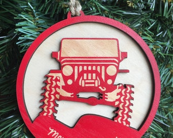 Jeep TJ Christmas Ornament