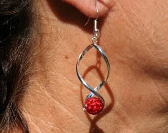 Twist earrings with Rhinestones