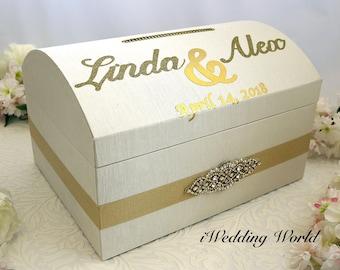 Personalized Wedding Card Box, Wedding Card Holder, Custom Gift Box, Wedding Cards