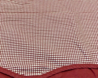 SALE / Gingham Valance / Barn Red Gingham Valance / Solid Color Accent
