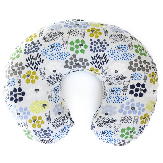 Boppy Cover - 'Flower Shop' Flowers for Sale in Blue - READY-to-SHIP