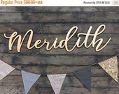 20% OFF TODAY large wood baby name sign, silver, gold, white, or black, nursery, laser cut
