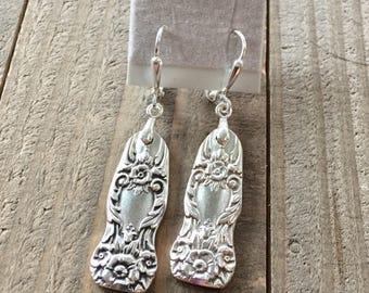 silverware earrings, spoon earrings, earrings, spoon jewelry, upcycled earrings, flatware earrings, boho earrings, silver earrings, vintage