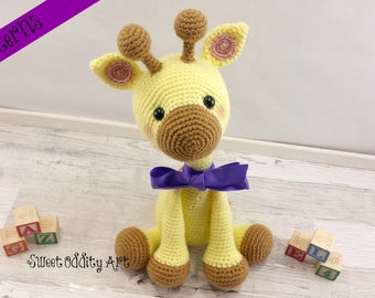 giraffe crochet pattern, crochet pattern, crochet giraffe, giraffe toy