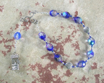 Coventina Pocket Prayer Beads: Gaulish Celtic Goddess of Wells, Springs and Fresh Water