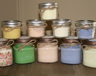 Soy Candles, 8 oz, You Pick Scent, Mason Jar Candles, Hand Poured Candle, Soy Candles Handmade, 8 oz Candle, Strong Scented Candles, Gifts