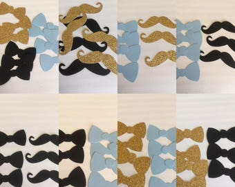 Little man mustache & tie confetti