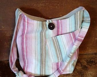Striped Crossover Handbag