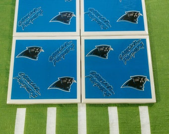 Carolina Panthers Tile Coasters