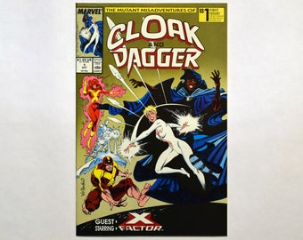 Cloak and Dagger #1 Marvel Comic,(Grade NM) Oct 1988, Vintage Cloak And Dagger Comic Book,Classic Marvel,Mutant Comic, B3