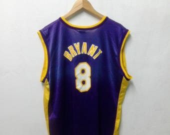 Vintage 90'S Champion Kobe Bryant #8 Los Angeles LAKERS Jersey Sz 44