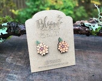 Stud Earrings - Flower 1